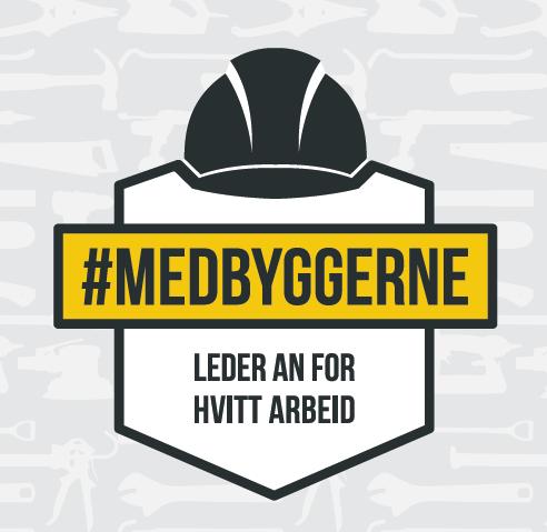 Logo Medbyggerne - Leder an for hvitt arbeid